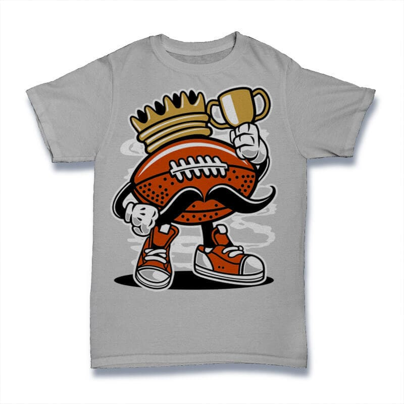 Football King Graphic t-shirt design buy t shirt design