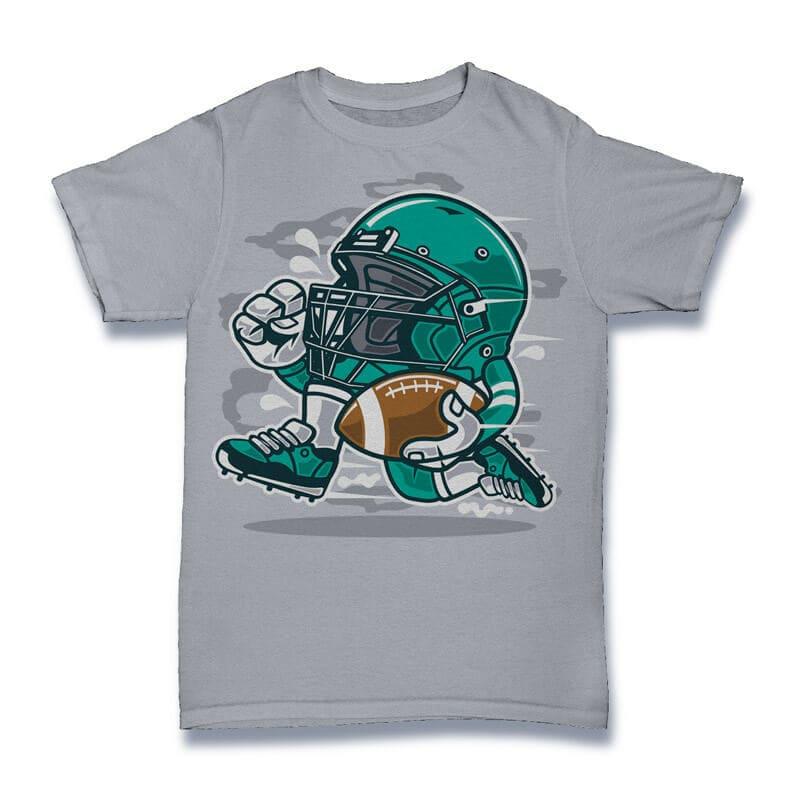 Football Player Vector t-shirt design buy t shirt design