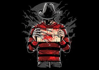 Freddy Will Kill For Food Graphic t-shirt design buy t shirt design