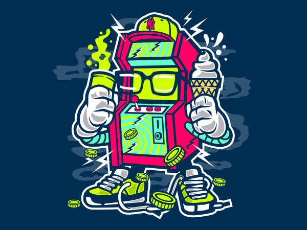Game Machine Vector t-shirt design buy t shirt design