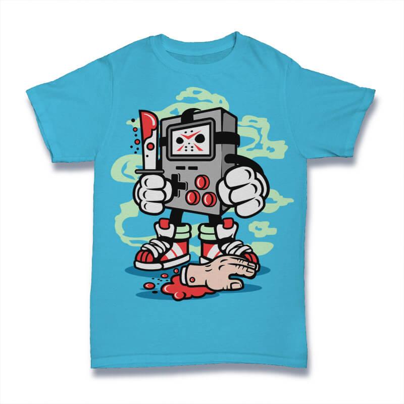 Gamers Killer Graphic t-shirt design buy t shirt design