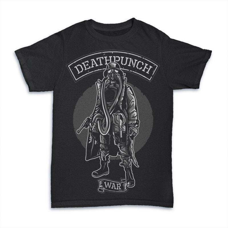 Gas Mask Soldier Vector t-shirt design buy t shirt design
