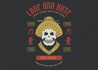 Geisha Skull Vector t-shirt design buy t shirt design