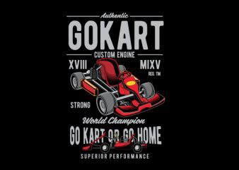 Gokart Vector t-shirt design