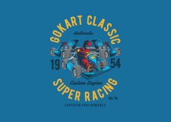 Gokart Classic Vector t-shirt design buy t shirt design