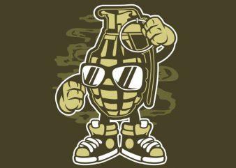 Grenade tshirt design buy t shirt design