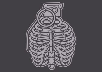 Grenade Ribcage Graphic t-shirt design