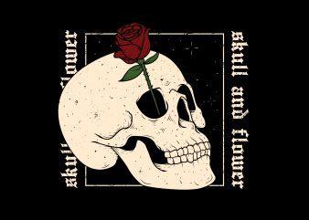 skull flower buy t shirt design
