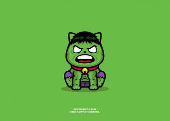 The Hulk Cats t shirt designs for sale