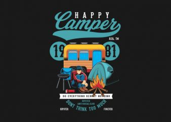 Happy Camper Vector t-shirt design