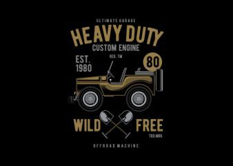 Heavy Duty Off Road Vector t-shirt design t shirt template