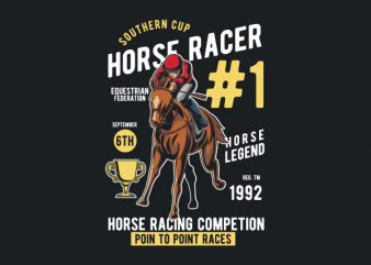 Horse Racer Vector t-shirt design