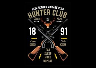 Hunter Club Graphic t-shirt design