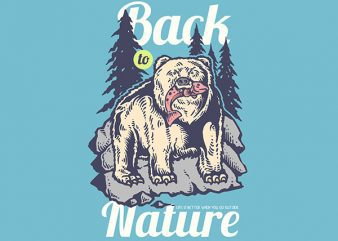 Hunting Bear Vector t-shirt design
