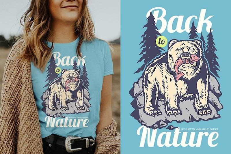 Hunting Bear Vector t-shirt design buy t shirt design