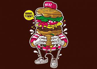I Love Burger Graphic t-shirt design buy t shirt design