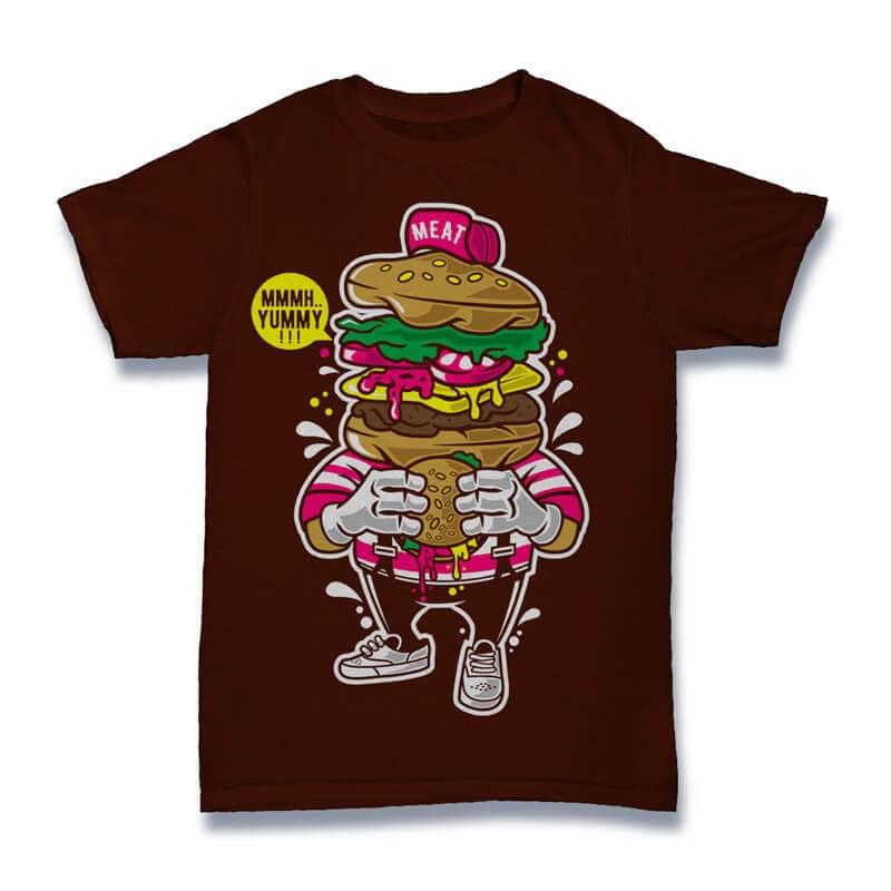 I Love Burger Graphic t-shirt design buy t shirt design