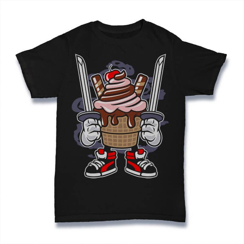 Ice Cream Ninja Vector t-shirt design buy t shirt design