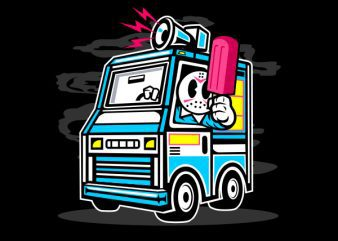 Ice Cream Truck Vector t-shirt design buy t shirt design