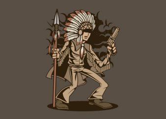 Indian Chief Killer Graphic t-shirt design buy t shirt design
