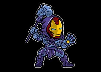Iron Skeletor t shirt vector