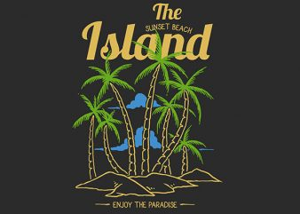 Island Vector t-shirt design