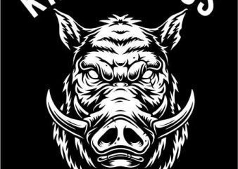 HOGS HEAD tshirt design
