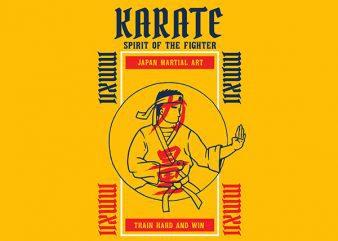 Karate Graphic t-shirt design buy t shirt design
