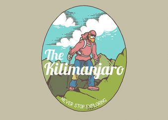 Kilimanjaro Graphic t-shirt design