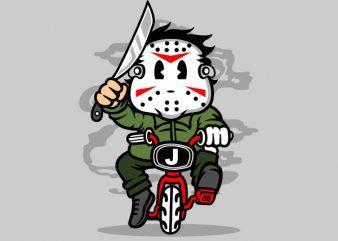 Killer Minibike Graphic t-shirt design