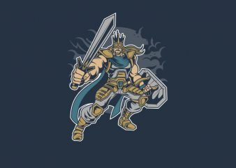 King of Battle Vector t-shirt design t shirt template