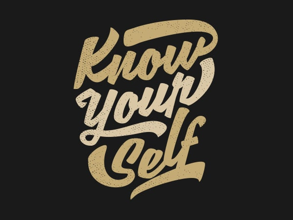 Know Yourself Vector t-shirt design buy t shirt design