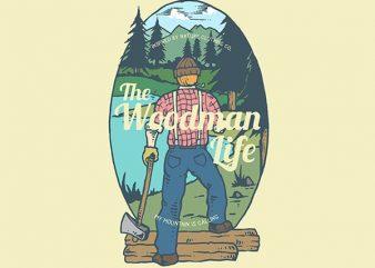 Lumber Man Graphic t-shirt design