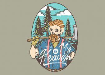Lumberjack Heaven Vector t-shirt design buy t shirt design