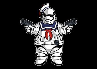 Marshmallow Trooper buy t shirt design