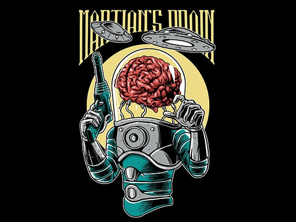 Martian's Brain Vector t-shirt design buy t shirt design