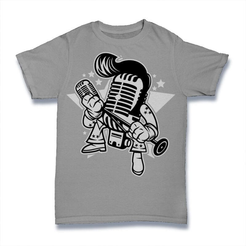 Microphone King Graphic t-shirt design buy t shirt design