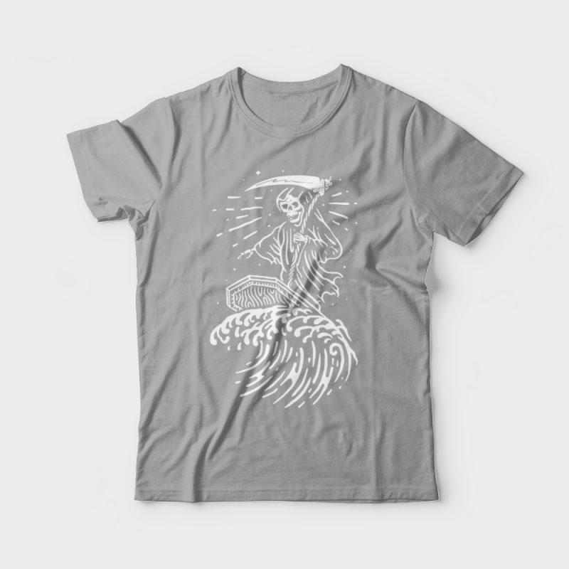 Grim Surfer buy t shirt design
