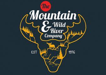 Moose Vector t-shirt design buy t shirt design