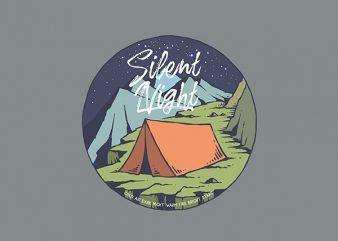 Night Camp Vector t-shirt design buy t shirt design