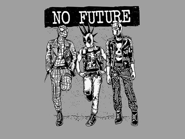No Future Vector t-shirt design