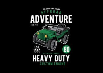 Off Road Adventure Graphic t-shirt design t shirt template