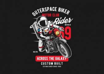 Outerspace Biker Graphic t-shirt design buy t shirt design