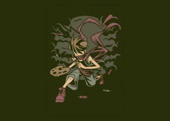 Painter Rebel Vector t-shirt design buy t shirt design
