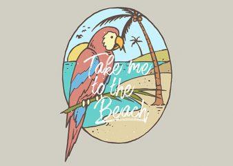 Paradise Bird Vector t-shirt design t shirt vector