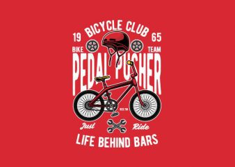 Pedal Pusher Graphic t-shirt design