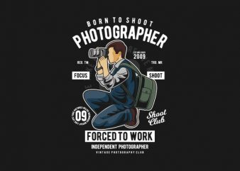 Photographer Graphic t-shirt design