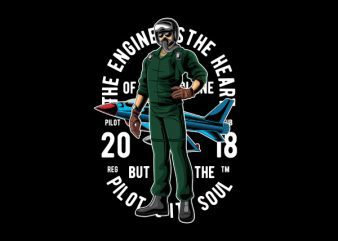 Pilot Vector t-shirt design