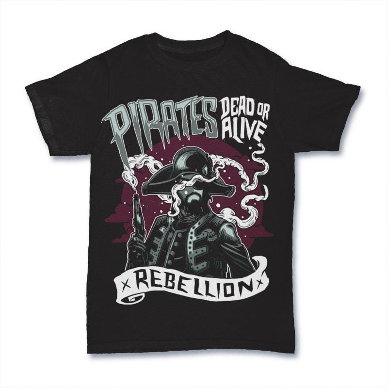 Pirates Vector t-shirt design buy t shirt design