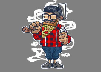 Pizza Beard Vector t-shirt design t shirt vector